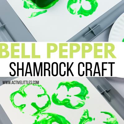 bell pepper shamrock crafts for kids