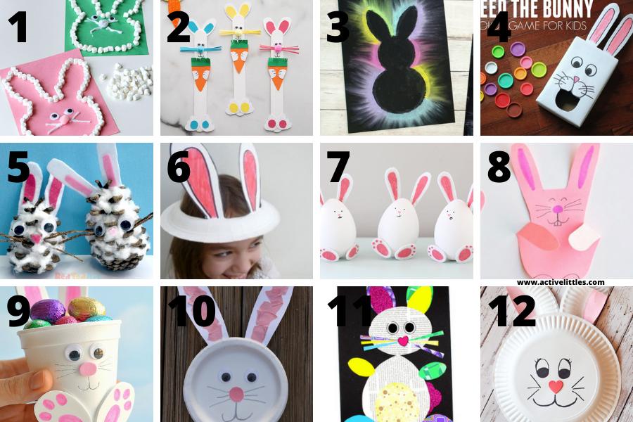 bunny easter crafts for preschool