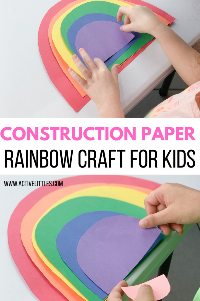 construction paper rainbow craft for kids
