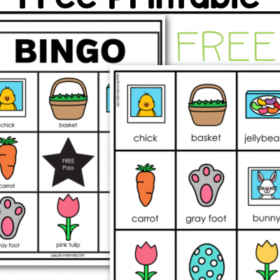 easter bingo game free printable for kids