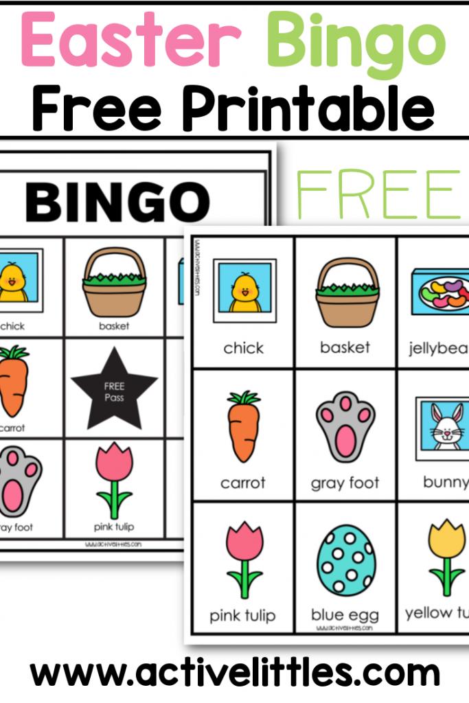 easter bingo game free printable for kids