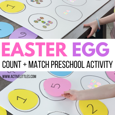 easter egg count and match preschool activity