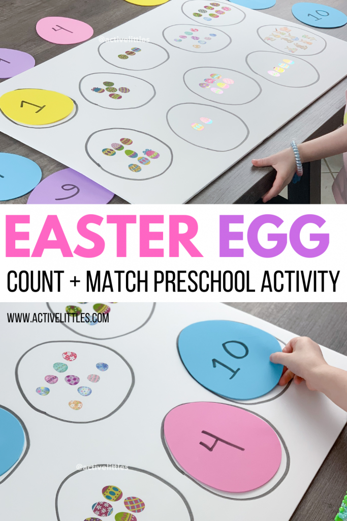 easter egg count matching activity for kids