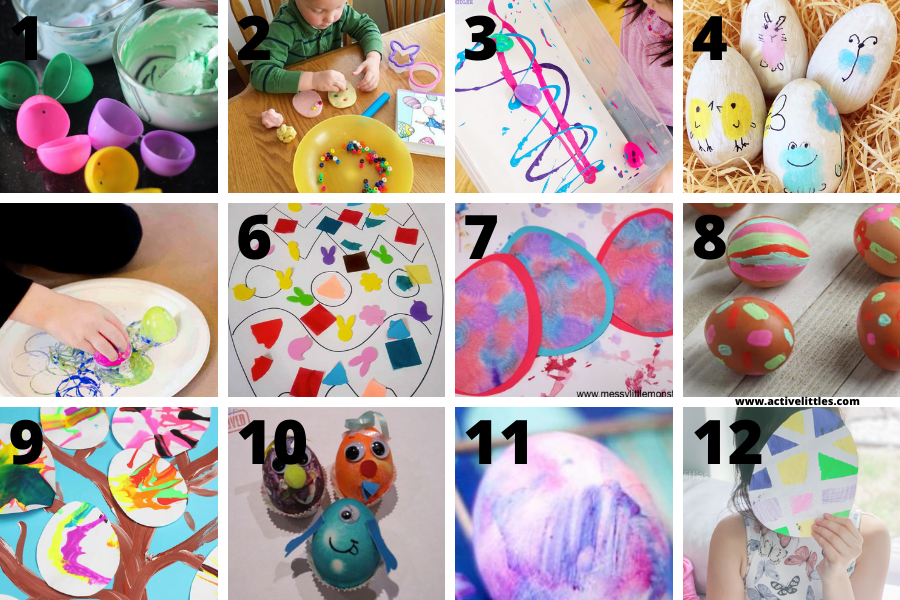 easter egg dying for toddlers