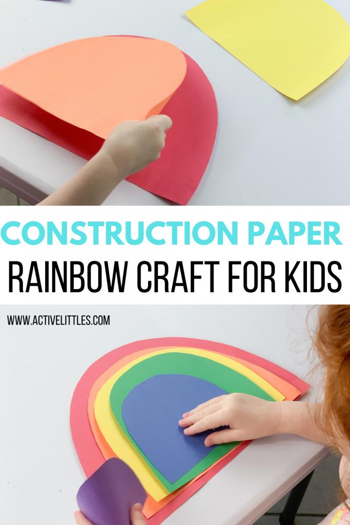 easy construction paper rainbow craft