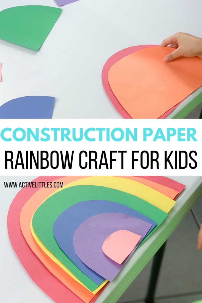 easy construction paper rainbow craft for kids