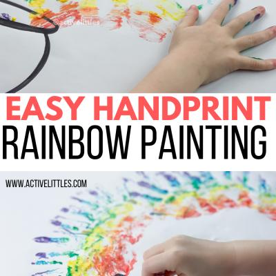 easy handprint painting