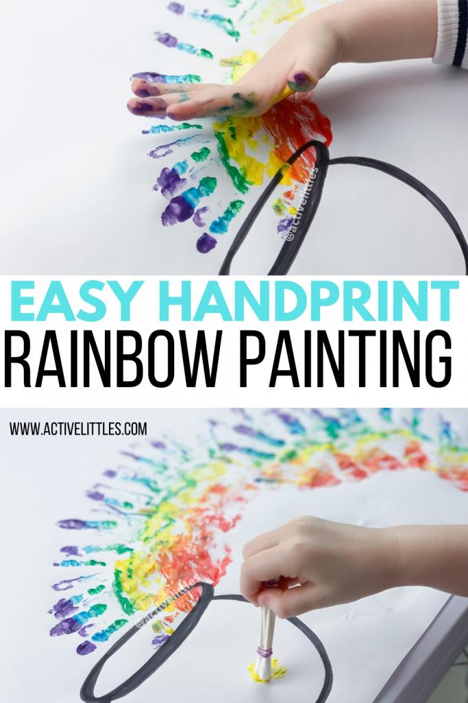 easy handprint painting for kids