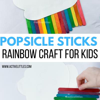 easy popsicle sticks rainbow craft for kids