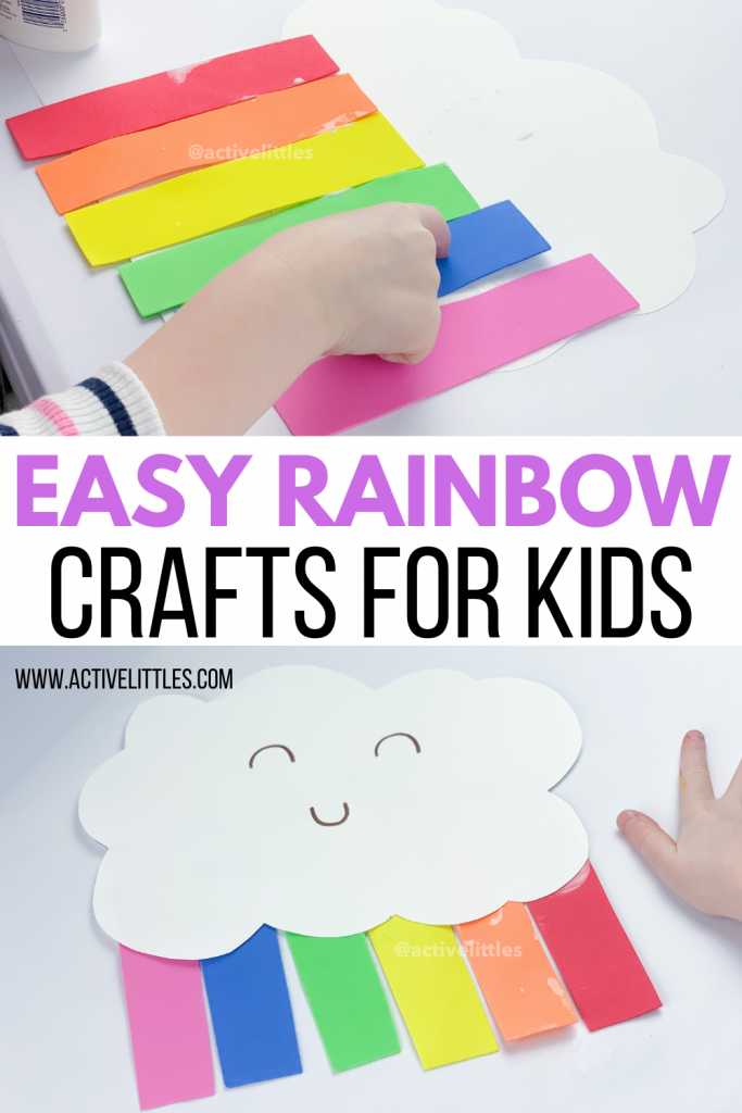 easy rainbow crafts activity for kids