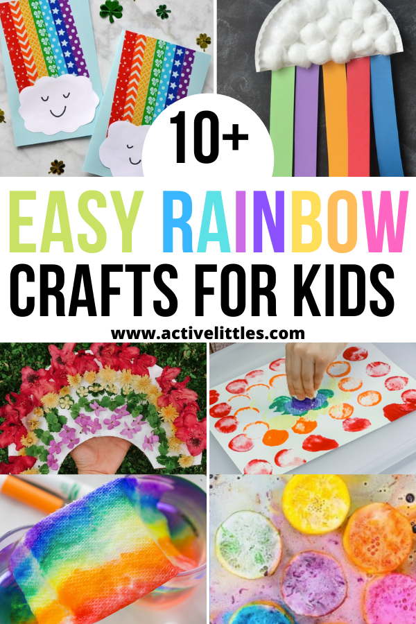 easy rainbow crafts for kids for learning at home