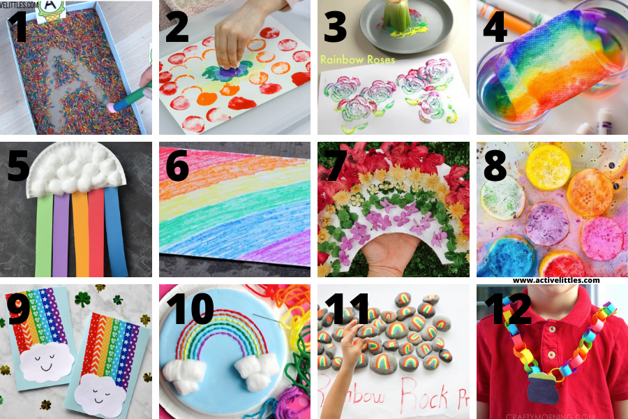 easy rainbow crafts for kids