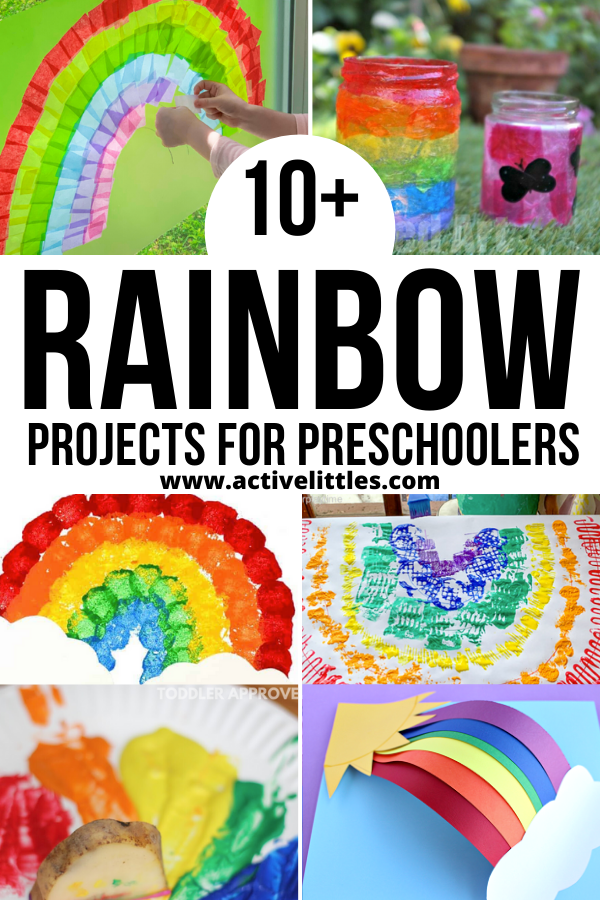 easy rainbow projects for preschoolers