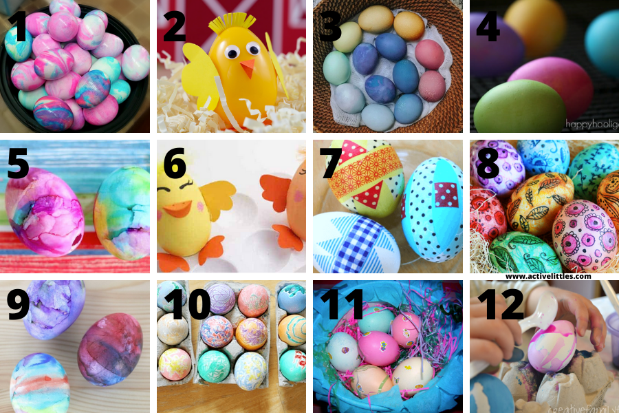 easy ways to decorate easter eggs