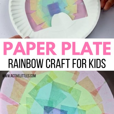 paper plate rainbow craft for kids