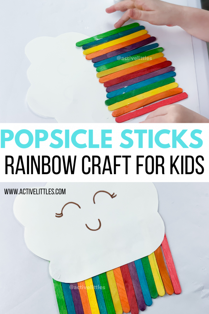 popscicle stick rainbow craft for kids