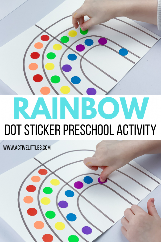 rainbow dot sticker preschool activity