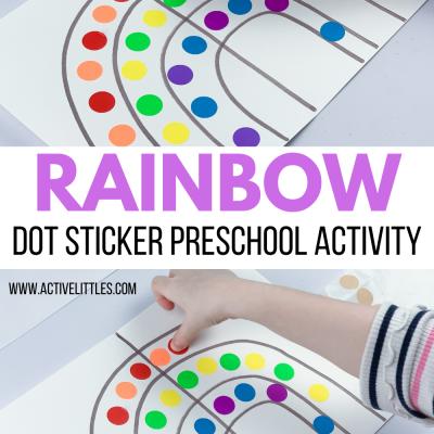 rainbow dot sticker rainbow kids activity
