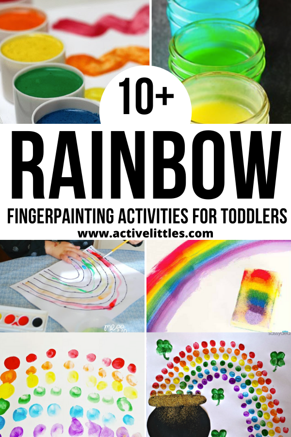 rainbow finger painting ideas for kids
