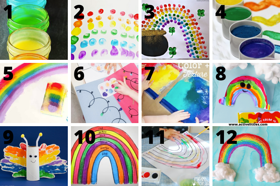 rainbow fingerpainting activity for toddlers