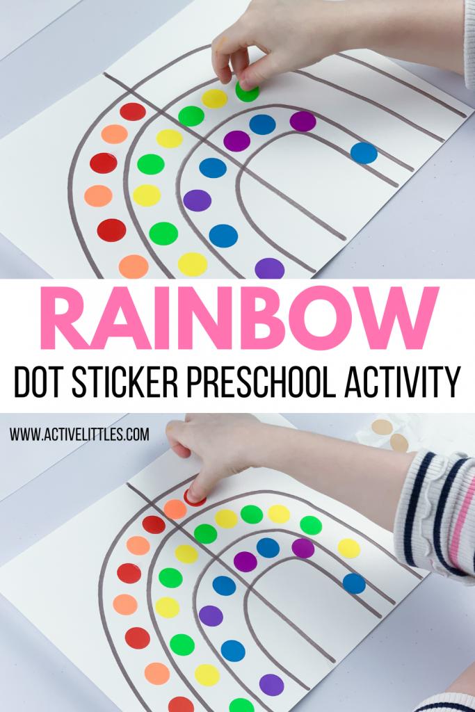 rainbow preschool symmetry activity