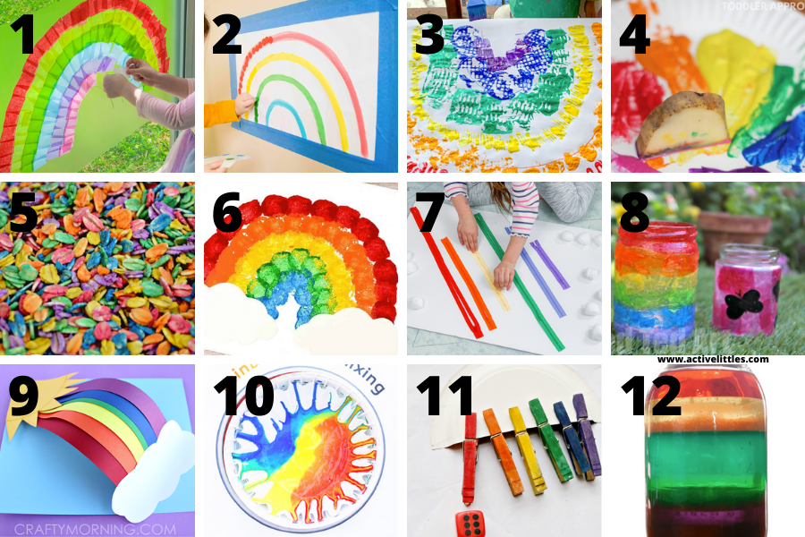 rainbow projects for preschoolers