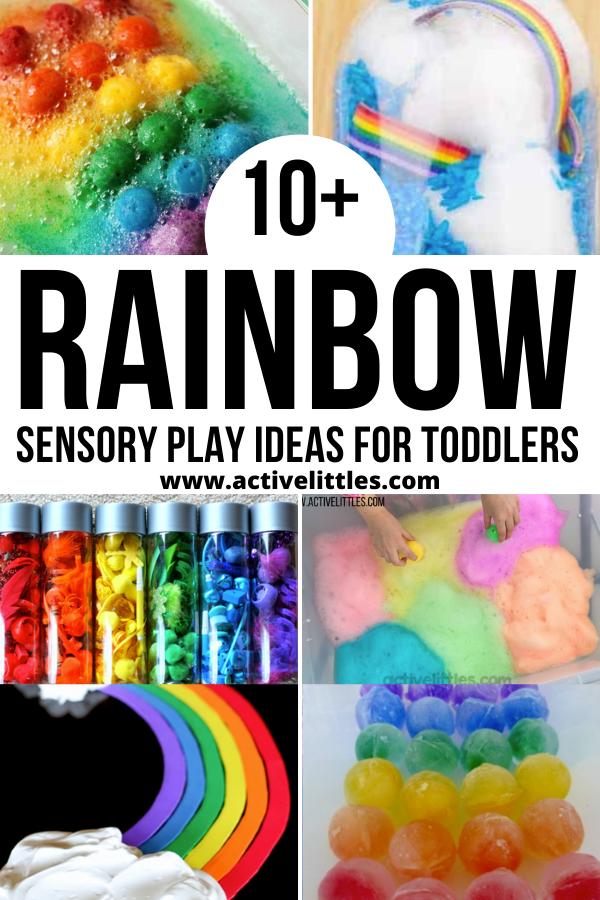 rainbow toddler sensory play ideas