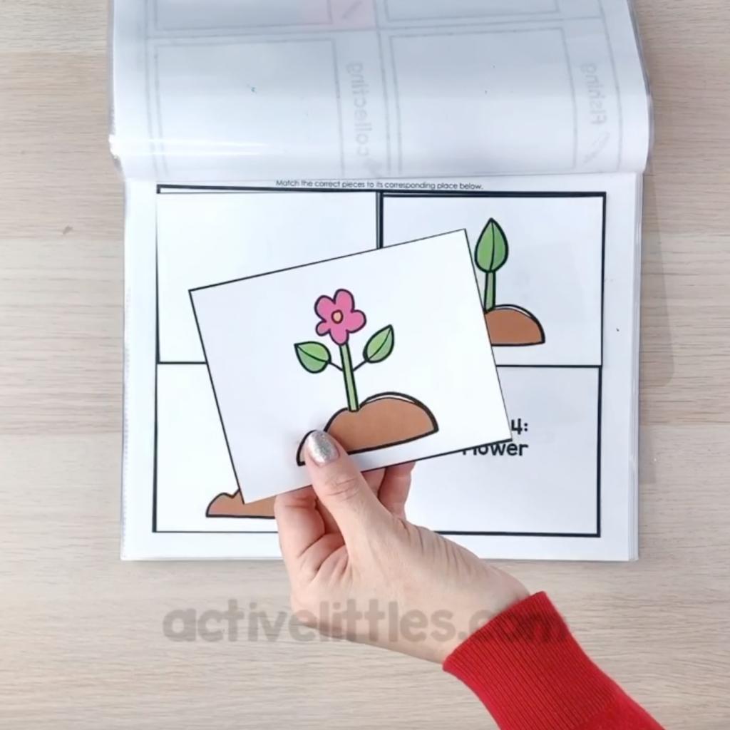 spring activity binder for kids
