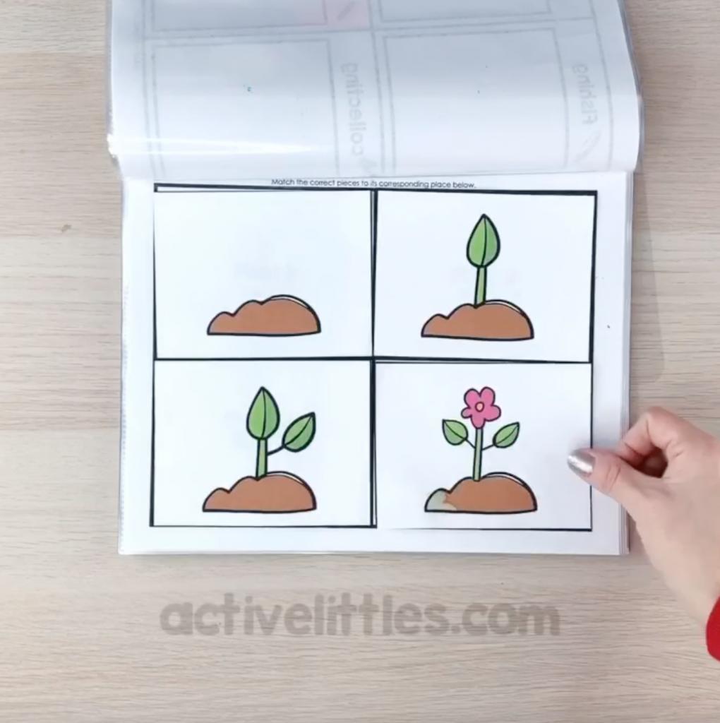 spring preschool activity binder