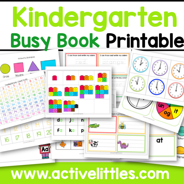 Kindergarten Busy Book - Active Littles