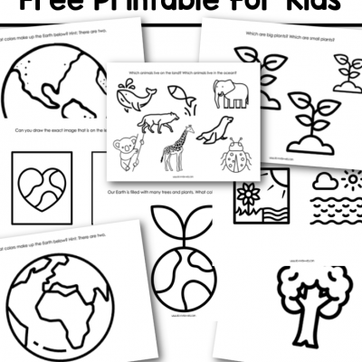 earth day free printable for kids