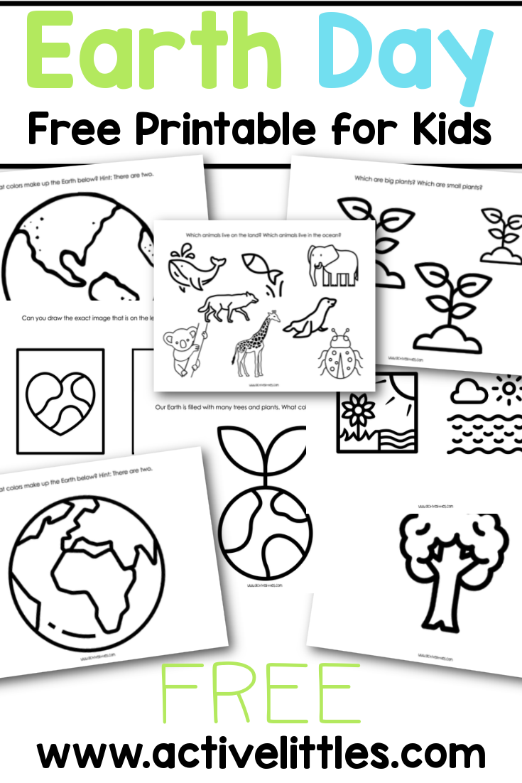 Free Earth Day Worksheets Free Printables Active Littles