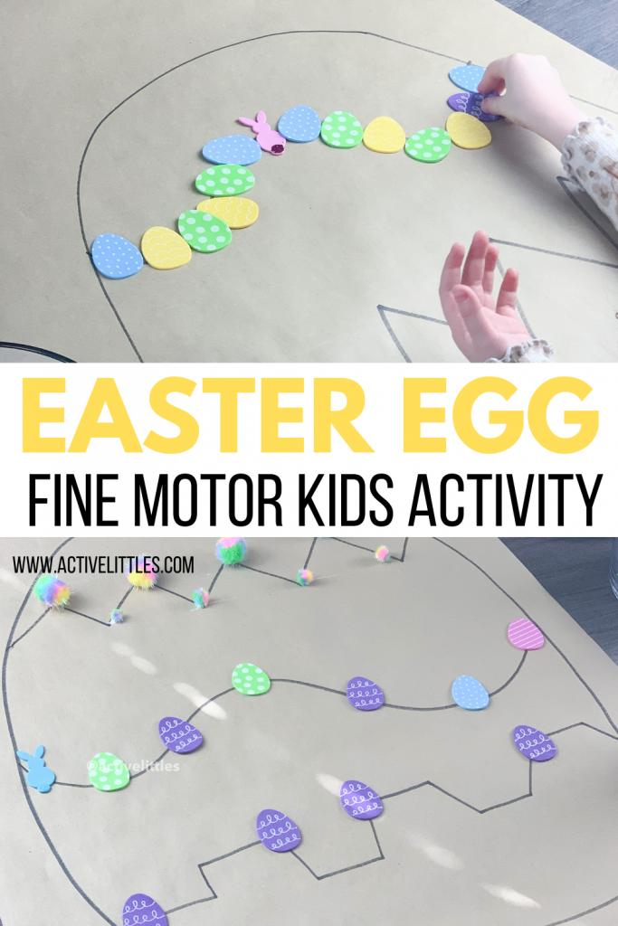 easter egg fine motor activity for kids