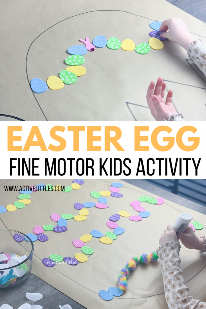 easter egg fine motor kids activity