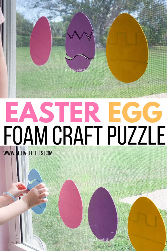 easter egg foam craft puzzle