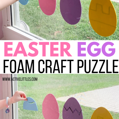 easter egg foam craft puzzle for preschoolers
