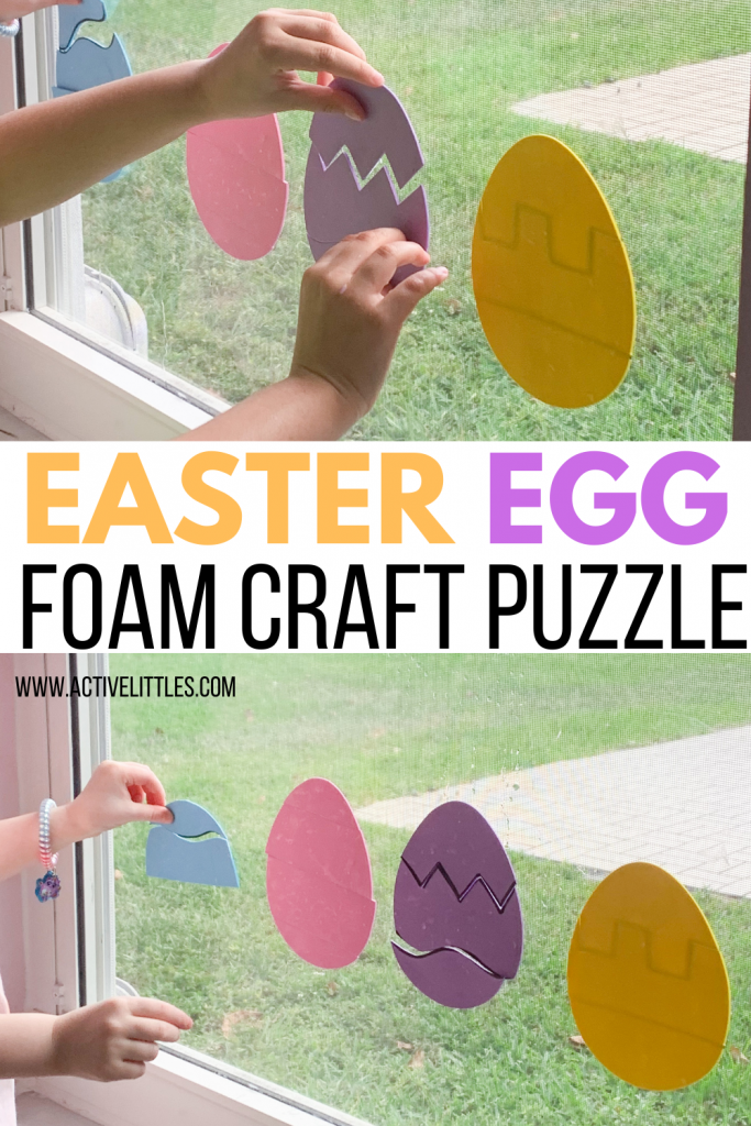 easter egg foam craft puzzle for toddlers