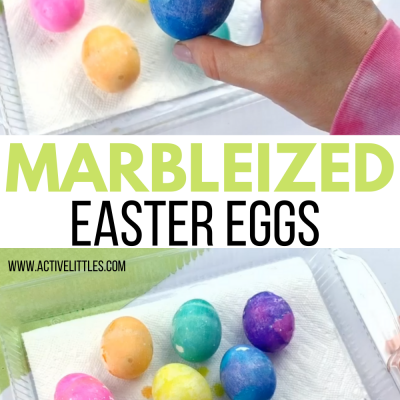 easy marbleized easter eggs decorating