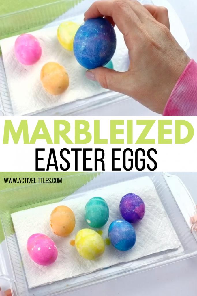 easy marbleized easter eggs decorating