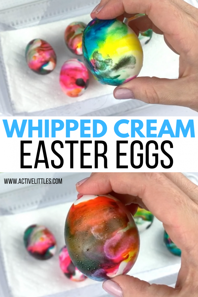 how to make easter eggs with whipped cream