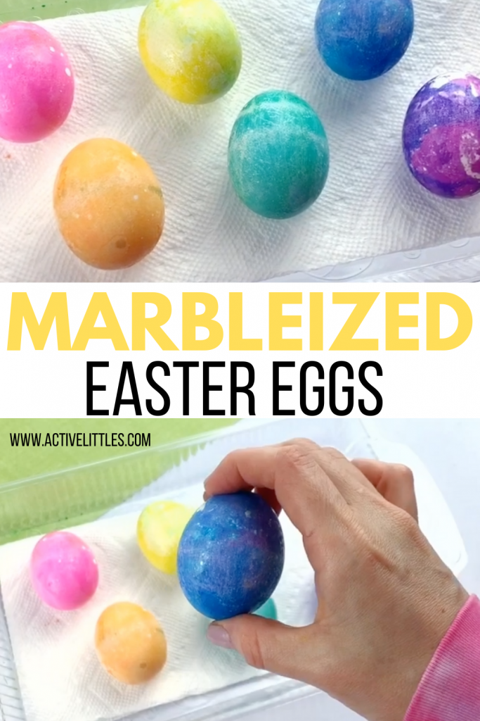 how to make marbleized easter eggs