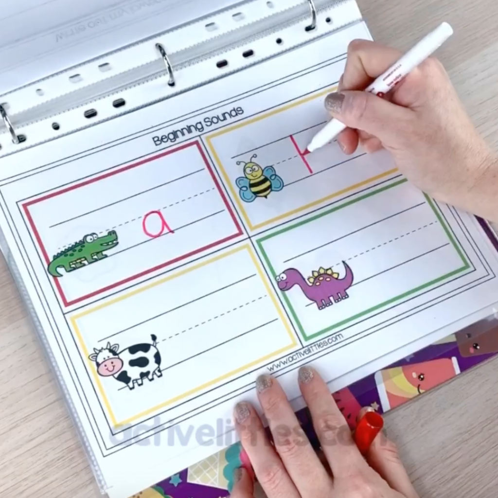 kindergarten beginning sounds worksheets