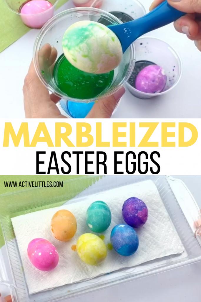 marbleized easter eggs for kids