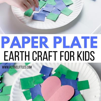 paper plate earth kids craft