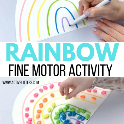 rainbow fine motor activities for kids