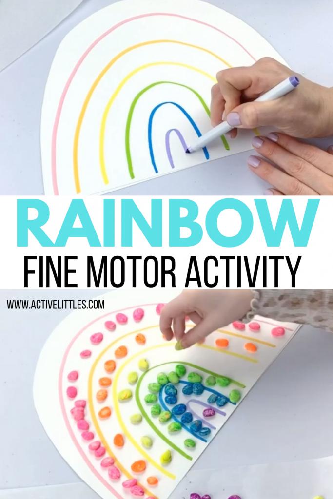 rainbow fine motor activities for kids