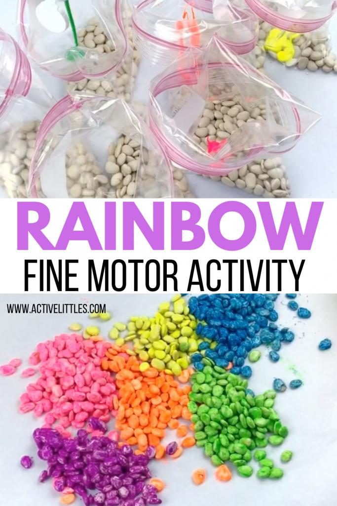 rainbow fine motor activity for preschoolers