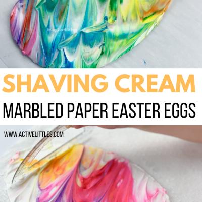 shaving cream marbled easter eggs for easter