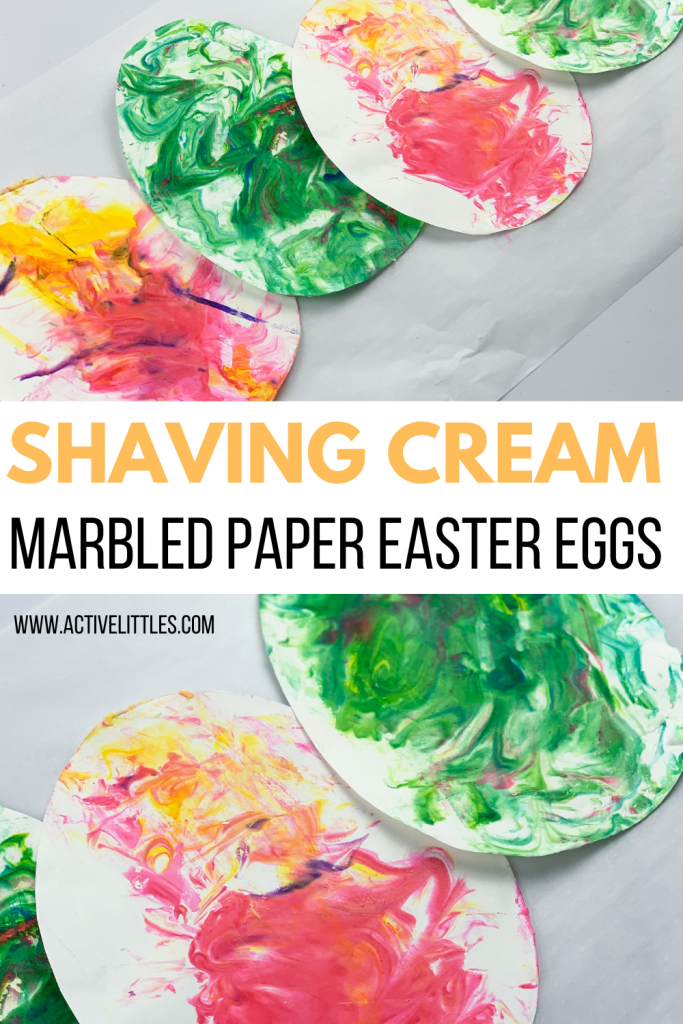 simple shaving cream marble easter eggs
