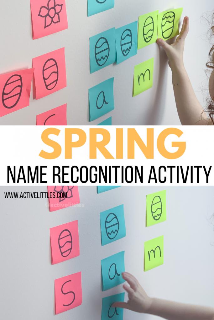 spring name activity for preschool